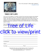Tree of Life order form 2011