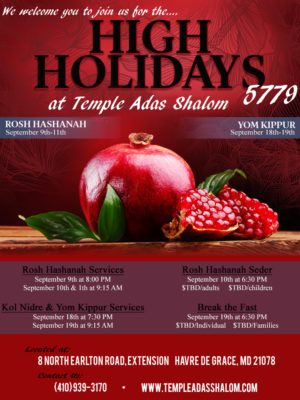 5779 High Holiday Services