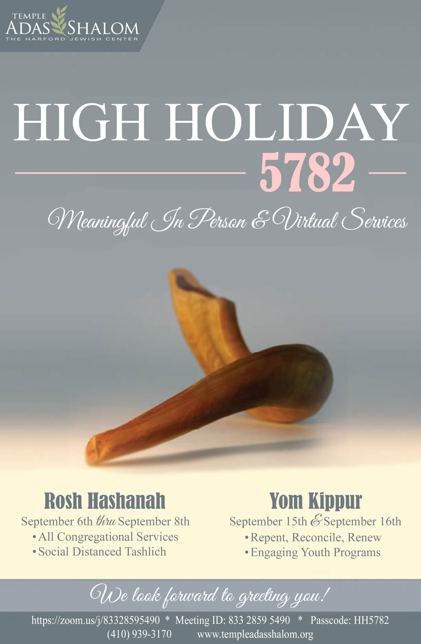 High Holiday Flyer 5782
